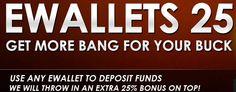 BETAT Casino promo eWallets 25 -