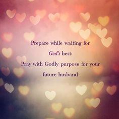 As Christians,  we are to bring all things (big & small), before the Lord.... So why not our desires for a godly mate? Come journey with other other sisters in the Lord as we dedicate a year to praying for our future spouse.... If interested in joining us, check us out over on Google + :)   https://plus.google.com/communities/114333309849404917064    #prayingformyfutureprince #prayingformyfuturehusband #waitingforGodsbest #prayingformyspouse