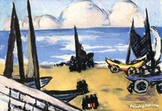 Boats on the Beach Artwork by Max Beckmann Hand-painted and Art Prints on canvas for sale,you can custom the size and frame