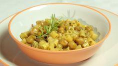 pasta e ceci Veg Recipes, Italian Recipes, Pasta Recipes, My Favorite Food, Favorite Recipes, Gnocchi, Dory, Macaroni And Cheese, Veggies