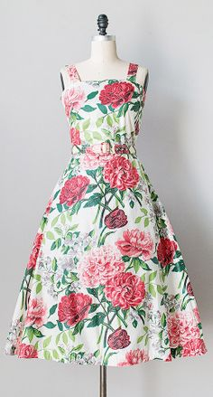 Peonies Forever Dress c.1950s