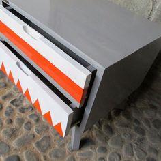 detail cevron side table