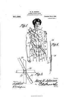 1909 Patent US911046 - JOHNSON - GARMENT FITTING DEVICE - Google Patents