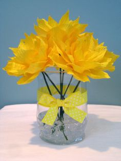 handmade crepe paper flower centerpiece!!