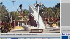 Ica: Municipio de Ocucaje construye monumento a tiburón en la Plaza de Armas | Actualidad | Peru21