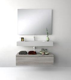 UNIBAÑO-Pack310-Baño Mueble de baño con encimera de 100cm y mueble auxiliar. PVP Recomendado 995€