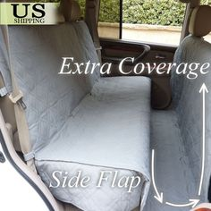 Large Deluxe Quilted Padded Car SUV Seat Cover Pet Dog Extra Coverage Protector. Eases the pain of unwanted pet hair in hard to reach crevices PLUS extra coverage so your pet isn't restricted to only one area.   eBay!
