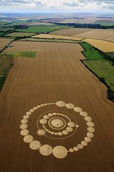 Crop Circles -- 26 July 2011 - Windmill Hill, near Avebury, Wiltshire