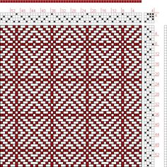 Hand Weaving Draft: Twill Squares 1, KB Original, 4S, 4T - Handweaving.net Hand Weaving and Draft Archive