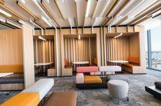 Deloitte Perth by Geyer – Office lounge Corporate Office Design, Corporate Interiors, Office Interiors, Corporate Offices, Lounge Design, Design Hotel, Commercial Interior Design, Office Interior Design, Commercial Interiors