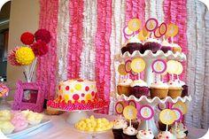 Polka Dot Birthday Supplies, Decor, Clothing: Pink and Yellow Polka Dot Party