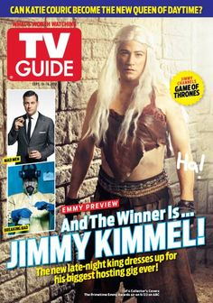 September Jimmy Kimmel channels this year's Emmy nominees for drama series, including Game of Thrones Celebrity Photographers, Celebrity Photos, King Dress, Emmy Nominees, Katie Couric, Hbo Game Of Thrones, Night King, Walter White, Tv Guide
