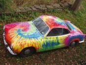 To Dye For Rainbow Tie Dye Car Paint Jobs Painted