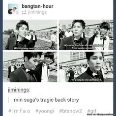 When you think Suga is the normal one and then he says this.