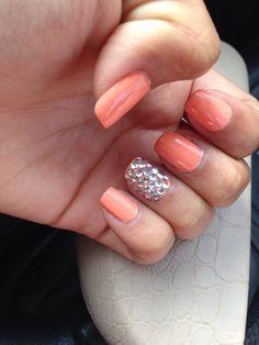 The peach color