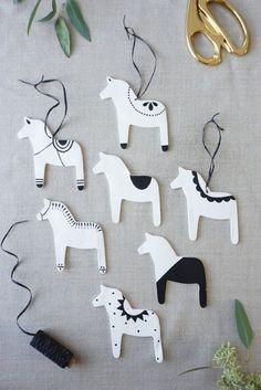 Cute handmade ornaments for Christmas tree//
