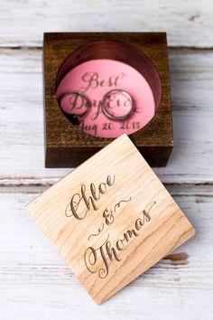 Rustic Wedding Ring Bearer Box Pillow