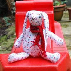 how to make a bunny from a baby's onesie (maybe a good keepsake)