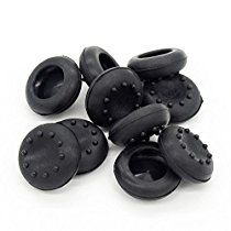 BW® 5 Pair/10 Pcs Replacement Silicone Analog Controller Joystick Thumb Stick Grips Cap Cover For PS3 / PS4 / Xbox 360 / Xbox One / Wii Game Controllers (black)