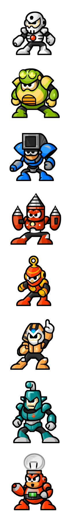 MegaMan 'Sprites'-Bosses of 4 by WaneBlade.deviantart.com on @DeviantArt