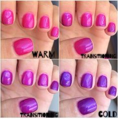Opting for bright colours or intricate nail art isn't a must anymore. This year, nude nail designs are becoming a trend. Here are some nude nail designs. Mood Nail Polish Gel, Mood Changing Nail Polish, Color Change Nail Polish, Gel Polish Colors, Nail Colors, Gel Color, Nude Nails, Gel Nails, Toenails