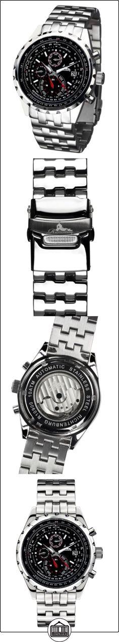 Richtenburg 4250245681267-U - Reloj para hombres, correa de acero inoxidable color plateado  ✿ Relojes para hombre - (Lujo) ✿