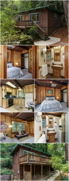 Cozy Rustic Tiny Cabin in San Lorenzo Valley will Take Your Breath Away &; In Ben Lomond California&; Cozy Rustic Tiny Cabin in San Lorenzo Valley will Take Your Breath Away &; In Ben Lomond California&; Tiny Cabins, Tiny House Cabin, Tiny House Living, Rustic Cabins, Tiny Houses For Sale, Little Houses, Pre Manufactured Homes, Ideas De Cabina, Southern Style Homes