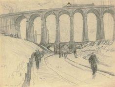 Lyonel Feininger, Viaduct near Meudon