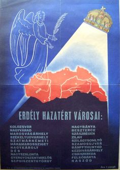 Kingdom of Hungary, territories annexed ca. Budapest, Hungary History, Illustrations And Posters, School Projects, Old World, Vintage Posters, 1, Retro, Drawings