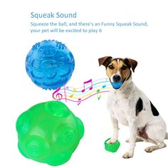 Dog Ball Eunon 3.5 Inch Durable Rubber Dog Toy Indestructible Balls Training Playing Pet Balls  Pack of Two Green and Blue >>> Visit the image link more details. (This is an affiliate link)