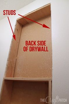 The Craft Patch: How To Build a Shelf Between Studs