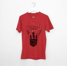 Alternative stranger things red t-shirt Men-Women 100% cotton single jersey. #geek #tee