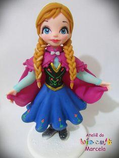 Anna de Frozen porcelana fria biscuit