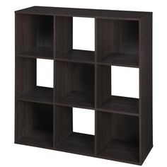 Martha Stewart Living - Espresso Stackable 9 Cube Organizer - 490800 - Home Depot Canada just bought this with a few fabric drawers in light blue and brown let's organize Office Storage, Cube Storage, Closet Storage, Toy Storage, Storage Organization, Storage Ideas, Storage Solutions, Yarn Storage, Extra Storage