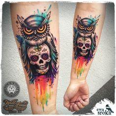 Un tattoo réalisé par Ewa Sroka