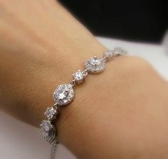 bridal bracelet bridal jewelry wedding bracelet by DesignByKara, $52.00