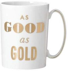 Kate Spade Simply Spark As Good As Gold Mug