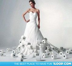 43 best NEAT TOILET PAPER DRESSES images on Pinterest   Wedding     Beautiful Toilet Paper Wedding Dress      wedding  weddingdress  funny