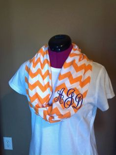 Monogrammed Chevron Infinity Scarf... in different colors of course.