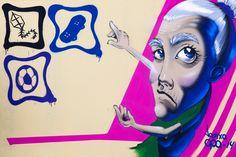 Painel produzido pelo artista Lapixa (Vinícius Martins Rodrigues) com o tema  Educação e Capacitação de Mulheres