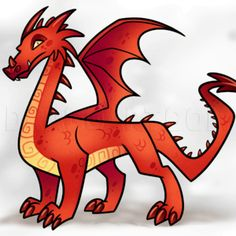 On with another lesson for beginners. What is one of the fantasy creatures that almost everyone wants to learn how to draw? Easy Cartoon Drawings, Easy Drawings For Kids, Simple Drawings, Dragon Horse, Dragon Art, Realistic Dragon, Cartoon Dragon, Horse Sketch, Horse Coloring Pages