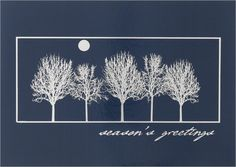 SERENITY  A full moon silhouettes winter's trees on a cold, quiet night bringing to mind hearth, happiness and season's greetings. - See more at: http://greetingcardcollection.com/products/holiday-cards-holiday-greetings/850-serenity