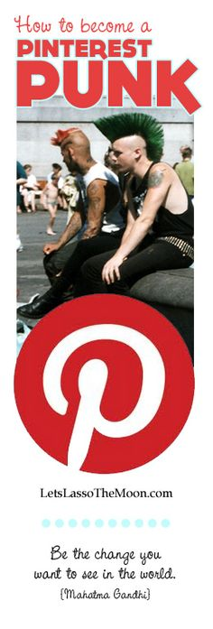Click through to learn how to become a Pinterest Punk. I love the idea of making Pinterest more of a community. What do you think?