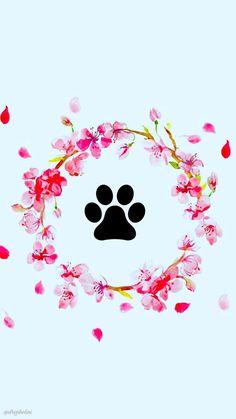 Phone Backgrounds, Wallpaper Backgrounds, Vintage Dog, Instagram Highlight Icons, Story Highlights, Dog Paws, Vintage Frames, Instagram Story, Symbols