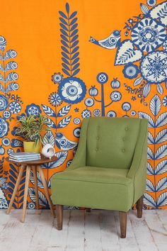 Classroom reading nook...love colors. NEED tapestry. CHEAP! (or possible bedroom idea)