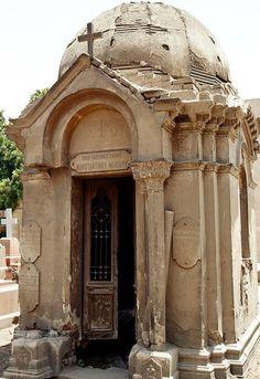Cemetery in Coptic Cairo, Egypt