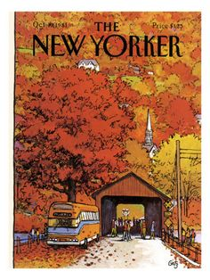 Vintage Illustration The New Yorker Cover - October 1981 Poster Print by Arthur Getz at the Condé Nast Collection - New Yorker October 1981 by Arthur Getz The New Yorker, New Yorker Mode, New Yorker Covers, Old Magazines, Vintage Magazines, Bohemian Mode, Influencer, Magazine Art, Magazine Covers