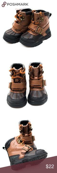 Polo Ralph Lauren Boots Light Brown and Dark Brown Polo Boot Polo by Ralph Lauren Shoes Boots