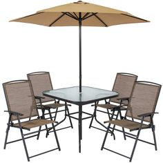Details About Outdoor Patio Table Chairs Dining Set Folding Umbrella Garden Yard Furniture