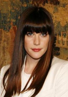 20 Ways to Wear Blunt Bangs: Photos of Celebrities With Bangs -- Liv Tyler